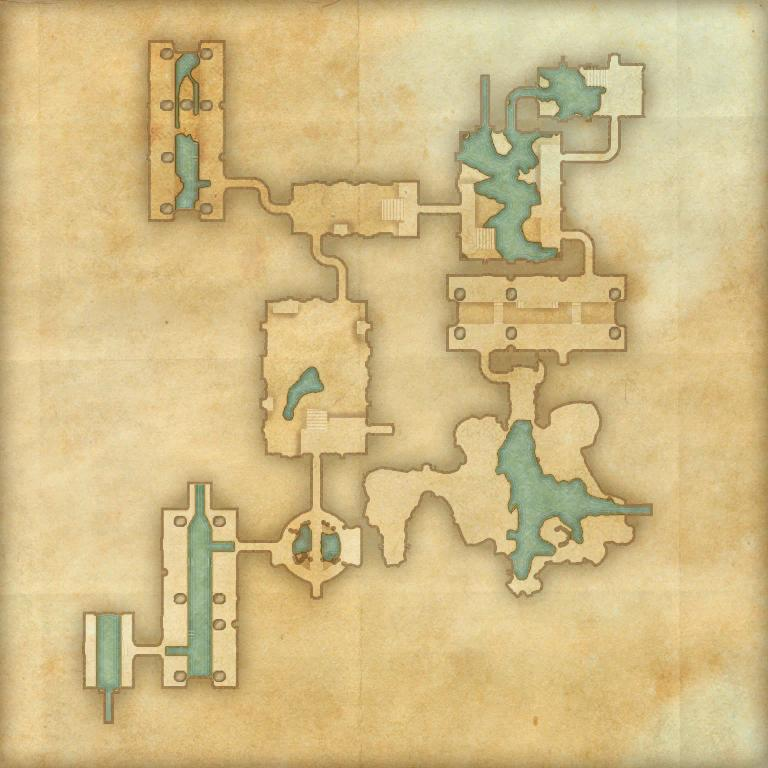 A map of Wayrest Sewers I
