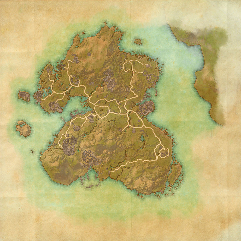 A map of Summerset Isle